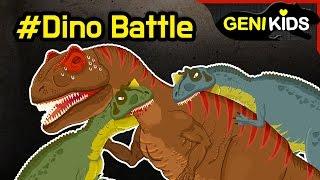 My Super DINO Fighting Short Movie   Dinosaurs Battle cartoon for children ★Genikids