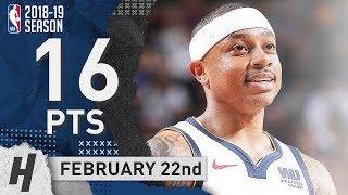 Isaiah Thomas Full Highlights Nuggets vs Mavericks 2019.02.22 - 16 Points off the Bench!
