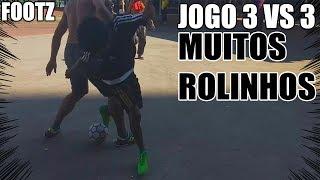 JOGO CONTRA 3 VS 3 - FUTEBOL DE RUA HD - RACHÃO !