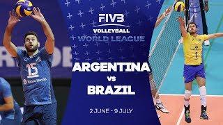 Argentina v Brazil highlights - FIVB World League