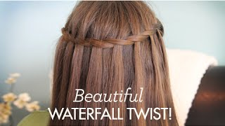 Beautiful Waterfall Twist | Cute Girls Hairstyles