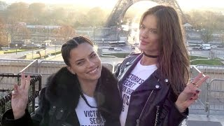 Victoria s Secret Adriana Lima, Alessandra Ambrosio and their fellow Angels at the Eiffel Tower