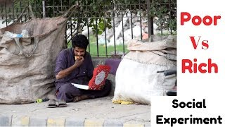 POOR Vs RICH Asking People For Food (Social Experiment)
