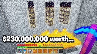 $230,000,000 Minecraft base raid.. has the RAREST spawners inside!