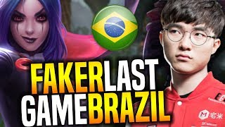 Faker's Last Game In Brazil Playing Leblanc Midlane, Now Back to Korea! | SKT T1 Replays