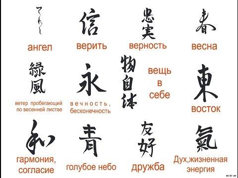 Китайские тату и перевод