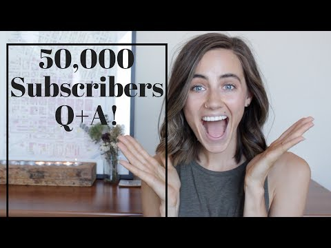 50,000 Subscribers Q+A   Lifestyle, Motivation + More!
