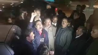 Journalist's protest against Jang