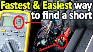 How to find a short in a modern car fast and easy (The correct way)