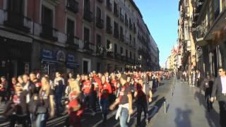 Atlético Madrid - Bayer Leverkusen | Fanmarsch zum Estadio Vicente Calderón