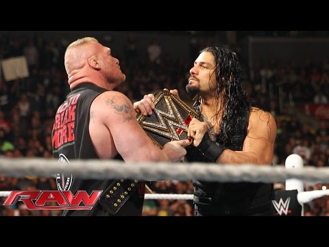 Xxx Mp4 Roman Reigns Confronts Brock Lesnar Face To Face Raw March 23 2015 3gp Sex