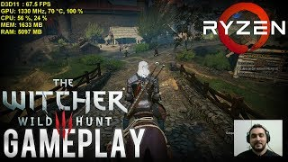 🎮 RYZEN 5 1600x / RX 480 8GB / RAM 3200 Mhz » The Witcher 3 e Rise of the Tomb Raider «