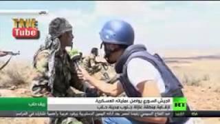 روسيا اليوم ترافق تقدم وحدات الجيش السوري في ريف حلب الجنوبي   تل عزان و كتيبة الدفاع الجوي   YouTub