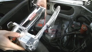 HOW TO INSTALL ONBOARD AIR COMPRESSOR | WIRING+MOUNTING VIAIR 444C SOURCE KIT SYSTEM IN DODGE RAM
