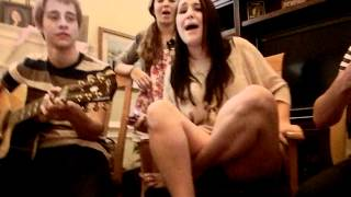 Riley McDonough from Before You Exit rapping Super Bass with Kari 05/19/12