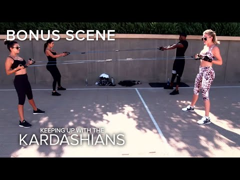 KUWTK Kim Kardashian Not Happy During Work Out With Sisters E