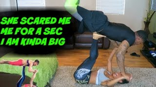 YOGA CHALLENGE GONE WRONG (SHE TRIED TO PRANK ME)