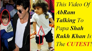 This Video Of AbRam Talking To Papa Shah Rukh Khan Is The CUTEST ! Must Watch | Most Adorable