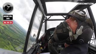 Flying Bf 109 G-4 Red 7 / Biggin Hill / Festival of Flight 2015 / WOW!!