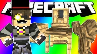 Minecraft Do Not Laugh | SKY'S LUXURY WOOD FACTORY! (Funny Moments!)