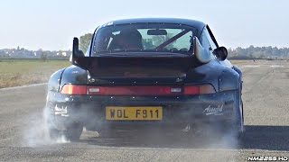 TUNED Porsche 993 GT2 Twin Turbo Hits the Drag Strip! - AMAZING Sounds!