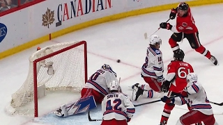 Dzingel takes rolling puck, roofs it past Lundqvist