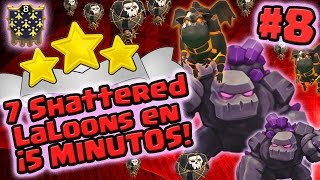 ¡7 Shattered LaLoons 5 MINUTOS! #8 ★★★ 100% | 2 Golems con 2/3 Sabuesos y Globos TH9 y TH10 | CoC