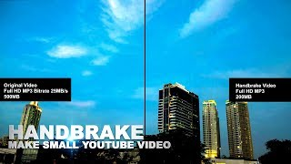 Reduce Video 4K Full HD 1080p File Size For Youtube with HandBrake