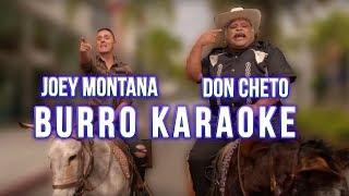 JOEY MONTANA Y DON CHETO EN BURRO KARAOKE!!!