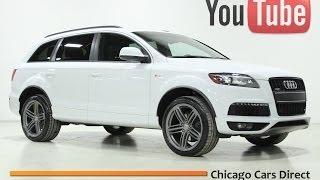 Chicago Cars Direct Presents a 2013 Audi Q7 3.0T Prestige S-Line. Glacier White/Black. #010104