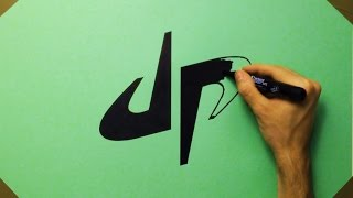 How To Draw DP Dude Perfect Logo On Green Paper | Fan Art
