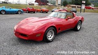1981 Red Corvette Camel Int 4spd For Sale