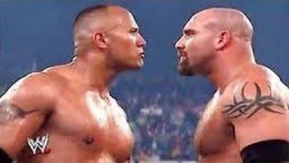 Bill Goldberg vs the rock wwe backlash 2003  match : wwe bill goldberg vs rock