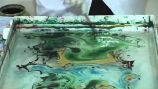 فن الطباعة ( مراحل الطباعة بالبصمة - الماربلينغ ) للاستاذه أحلام النجدي الجزء 4-4