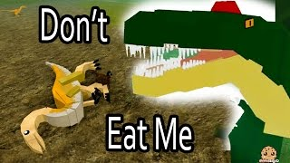 Don't Eat Me!! I'm A Baby Dino - Roblox Dinosaur Simulator Online Game Let's Play