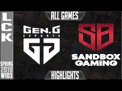 Xxx Mp4 GEN Vs SB Highlights ALL GAMES LCK Spring 2019 Week 1 Day 3 Gen G Vs Sandbox Gaming 3gp Sex