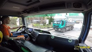 Mercedes Benz Actros 3343 transport clay - truck cab view