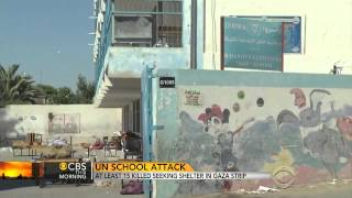 Outrage Over Israeli Shelling Of UN School In Gaza
