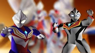Ultraman Tiga & Dyna: New Generations - PS1 Gameplay 1080p (BR)