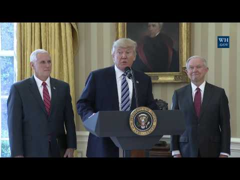 President Trump Participates in the Swearing In of the Attorney General Jeff Sessions
