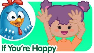 IF YOU'RE HAPPY AND YOU KNOW IT with lyrics- Lottie Dottie Song for kids