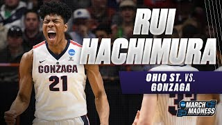 Gonzaga's Rui Hachimura scores 25 points in the Bulldogs Second Round victory