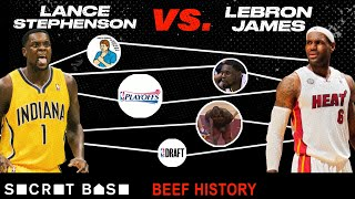 Lance Stephenson didn't follow in LeBron's footsteps, so he spent 6 years bugging him | Beef History
