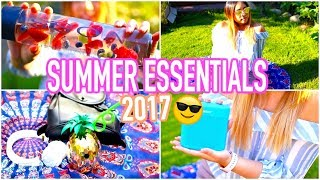Vacation Essentials 2017: Things You NEED for Summer!