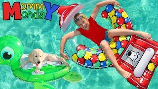 Puppy Pool Party || Mommy Monday