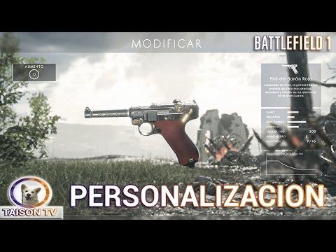 Battlefield 1 Personalización de armas, medallas,