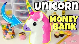 Easy crafts,How to make a UNICORN money bank