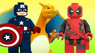 DEADPOOL vs CAPTAIN AMERICA POKEMON GO BATTLE SPIDER MAN ELSA