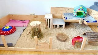 Guinea Pig Cage Cleaning Routine | DIY Cage | Bedding & Fleece