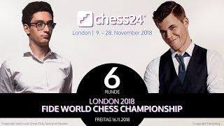6. Partie - FIDE Schachweltmeisterschaft 2018 - Carlsen-Caruana